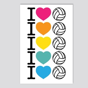 I Heart Volleyball Postcards (Package of 8)