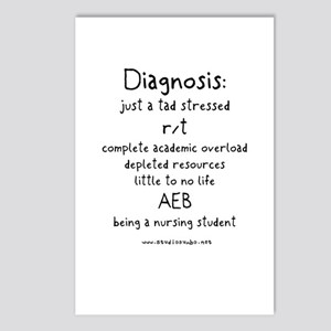 Tad Stressed Student Nurse Postcards (Package of 8