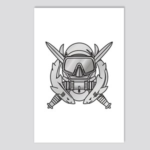 Combat Diver (2) Postcards (Package of 8)
