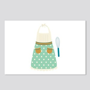 Kitchen Apron Whisk Baking Postcards (Package of 8