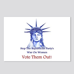 Stop Republicans War On W Postcards (Package of 8)