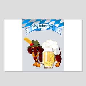 Oktoberfest Daschund with Postcards (Package of 8)