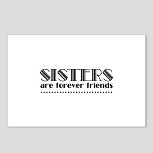 Sisters are forever frien Postcards (Package of 8)