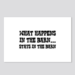 What Happens In The Barn Postcards (Package of 8)