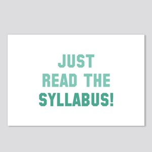 Just Read The Syllabus Postcards (Package of 8)