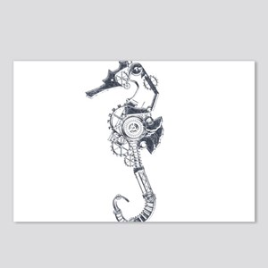 Silver Industrial Sea Horse Postcards (Package of