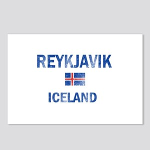 Reykjavik Iceland Designs Postcards (Package of 8)