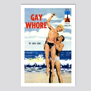 Gay Whore Postcards (Package of 8)