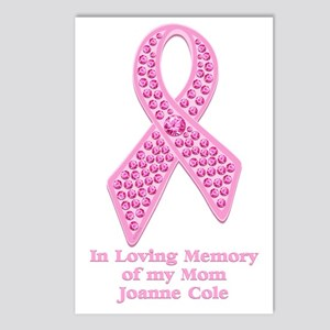 Breast Cancer Gem Ribbon Postcards (Package of 8)