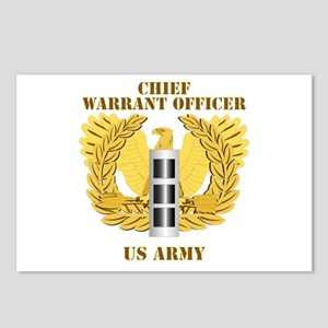 Army - Emblem - Warrant Officer CW3 Postcards (Pac