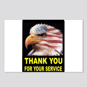 MILITARY THANKS Postcards (Package of 8)