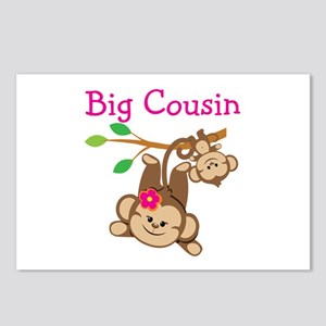 Monkeys Girl Big Cousin Postcards (Package of 8)