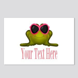 Frog in Pink Sunglasses Custom Postcards (Package
