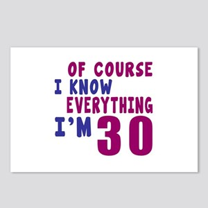 I Know Everythig I Am 30 Postcards (Package of 8)