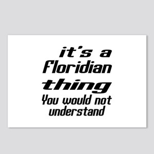 Floridian Thing You Would Postcards (Package of 8)