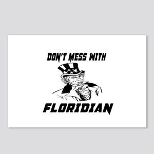 Do Not Mess With Floridia Postcards (Package of 8)