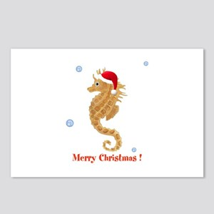 Personalized Christmas Seahorse Postcards (Package