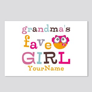 Grandmas Favorite Girl Personalized Postcards (Pac