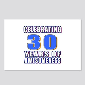 30 Years Of Awesomeness Postcards (Package of 8)