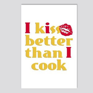 Kiss Better Than Cook Postcards (Package of 8)