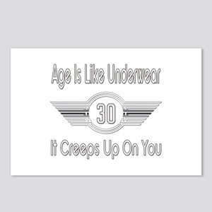 Funny 30th Birthday Postcards (Package of 8)
