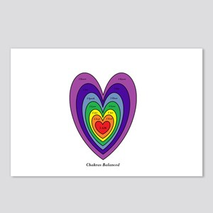 Chakras Balanced Heart Sh Postcards (Package of 8)