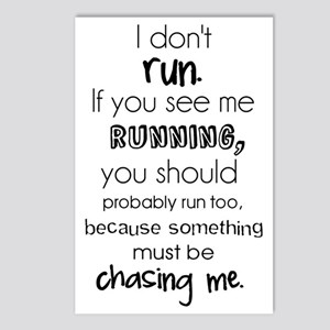 I Dont Run Funny Quote Postcards (Package of 8)