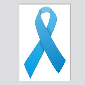 Light Blue Ribbon Postcards (Package of 8)