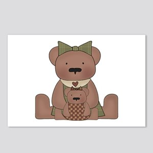 Teddy Bear With Teddy Postcards (Package of 8)