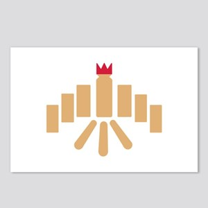 Kubb game Postcards (Package of 8)