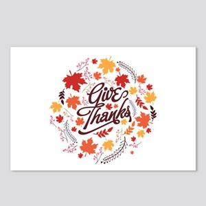 Give Thanks Postcards (Package of 8)