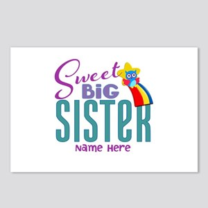 Custom Sweet Big Sister Owl Postcards (Package of