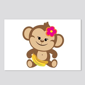 Girl Monkey Postcards (Package of 8)