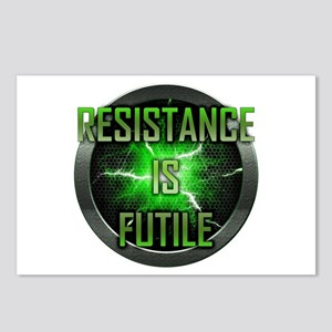 Resistance is Futile Postcards (Package of 8)