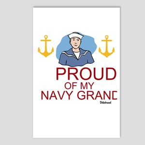 Proud Of My Navy Grandson Postcards (Package of 8)