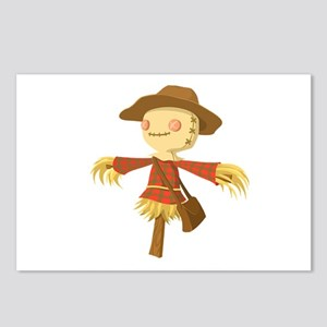 Fall Scarecrow Out Standi Postcards (Package of 8)