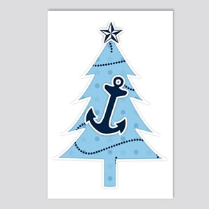 Navy Christmas Tree Postcards (Package of 8)
