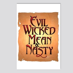 Evil Wicked Postcards (Package of 8)