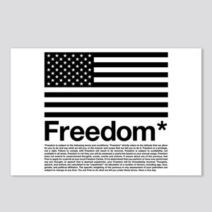 Freedom Terms and Conditions Postcards (Package of