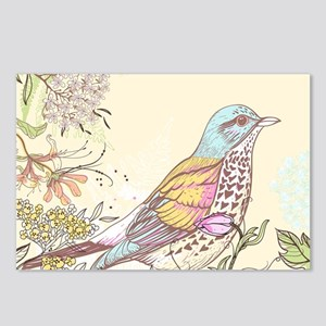 Bird and Flowers Postcards (Package of 8)
