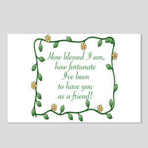 FRIENDSHIP - HOW BLESSED Postcards (Package of 8)