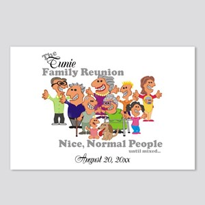 Personalized Family Reunion Funny Cartoon Postcard
