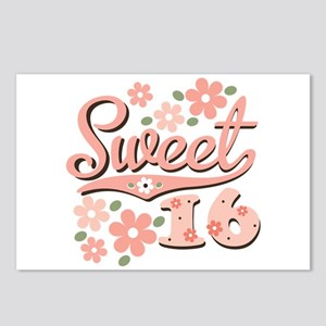 Pretty Pink Sweet 16 Postcards (Package of 8)