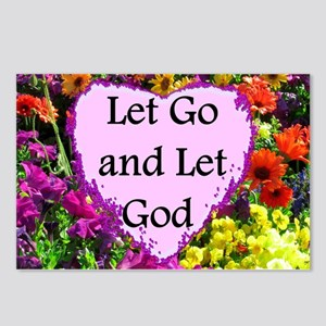 LET GO AND LET GOD Postcards (Package of 8)