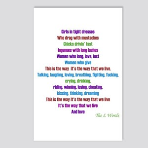 L Word Theme Lyrics Postcards (Package of 8)