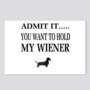Hold My Wiener Dachshund Postcards (Package of 8)