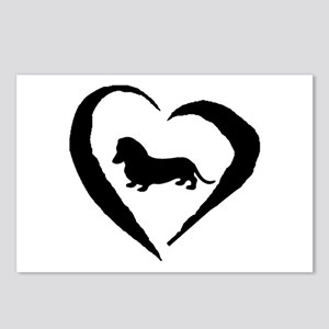 Mini Dachshund Heart Postcards (Package of 8)