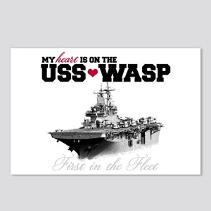 USS Wasp (Heart) Postcards (Package of 8)