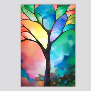Tree of Light by Sally Tr Postcards (Package of 8)