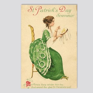 St Patricks Day Lady Postcards (Package of 8)